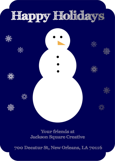 non-photo holiday cards - Jolly Snowman by Lindsey Kelly