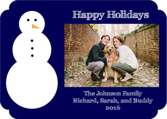 holiday photo cards - Modern Snowman by Lindsey Kelly