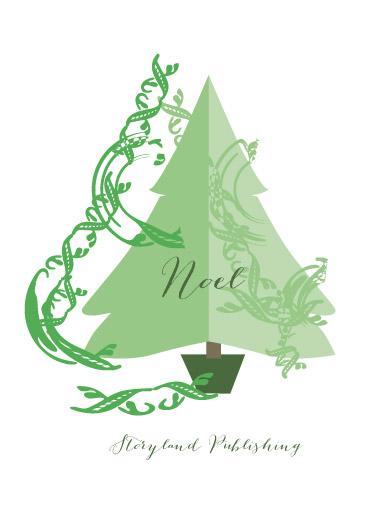 non-photo holiday cards - Swirl Tree by Andriana