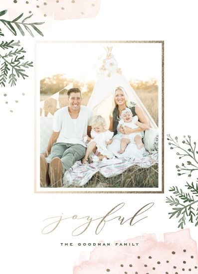 holiday photo cards - Watercolor Winter by Oscar & Emma