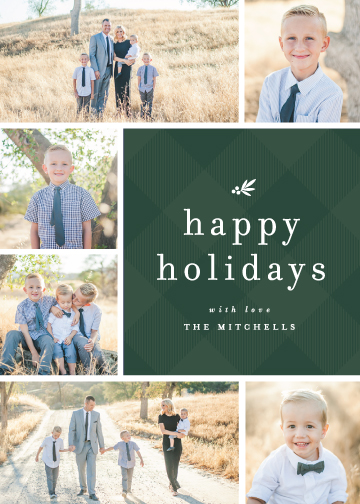 holiday photo cards - Plaid + Pine by Lauren Chism