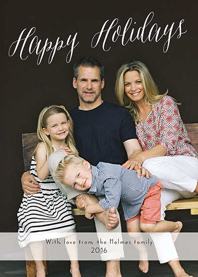 holiday photo cards - Happy Holiday Holmes by Annie Taylor