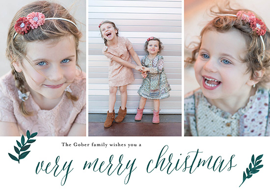 holiday photo cards - A Very Merry Christmas Card by Annie Taylor