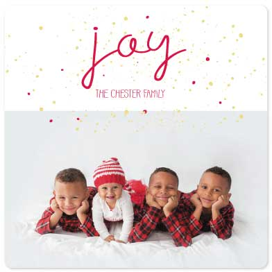 holiday photo cards - Joyful Splatter by Amanda Zoss