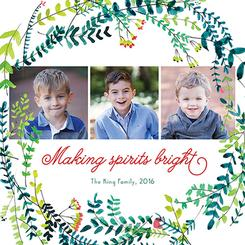 Square Holiday Greenery Wreath