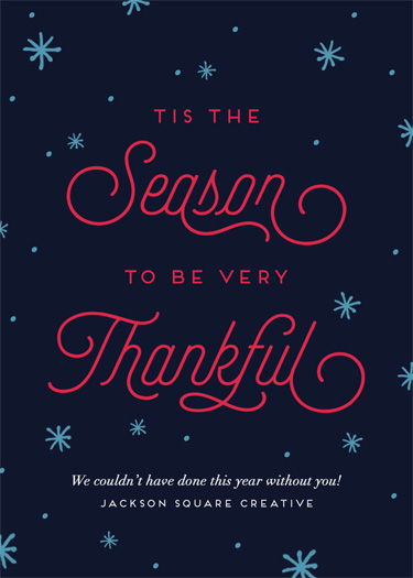 non-photo holiday cards - The Season To Be Thankful by Chelsea Voorhees