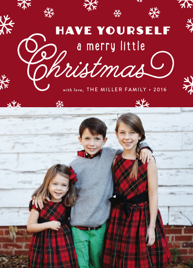 holiday photo cards - Snowy and Merry Little Christmas by sparky
