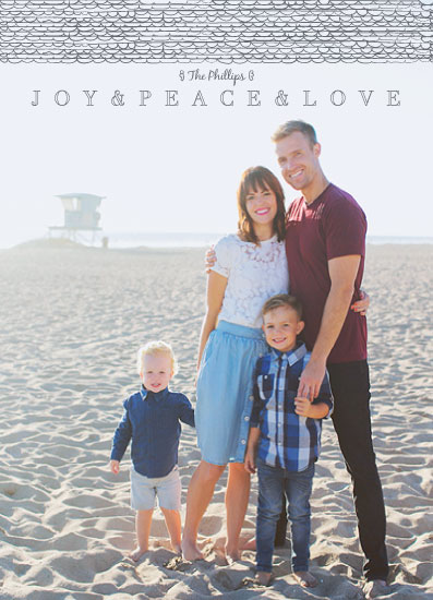 holiday photo cards - Scribbles of Joy and Peace by Lindsay Davis