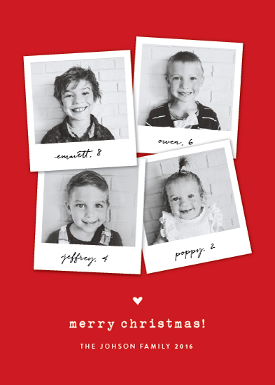 holiday photo cards - polaroid mashup by Sara Hicks Malone