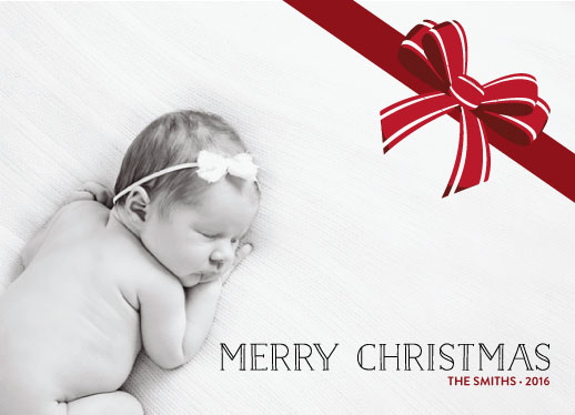 holiday photo cards - BIG BOW by Nicholas Leija