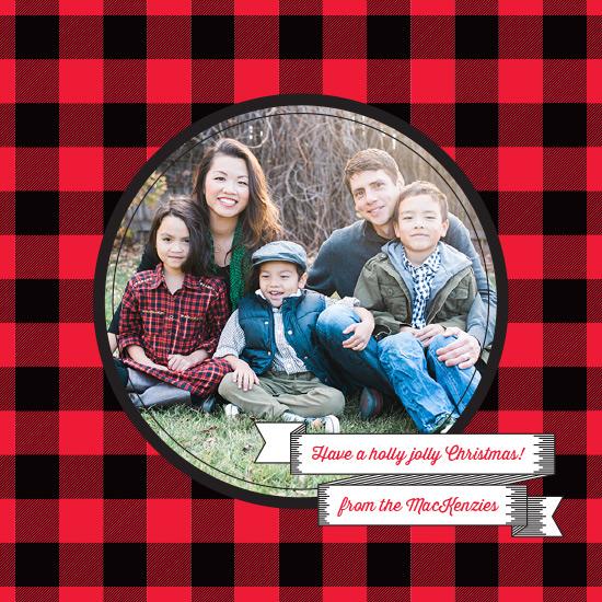 holiday photo cards - Holly Jolly Tartan by Moy Creative