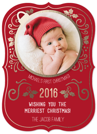 holiday photo cards - Baby's First Holiday by Karen Ciocca