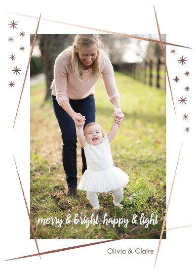 holiday photo cards - Golden Lines by Hello Sophie Design Lab