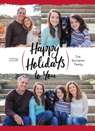 holiday photo cards - Happy Holiday Swash by Rhonda Kinahan