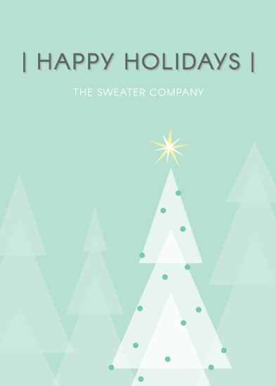 non-photo holiday cards - Bright Star by Katie Grantier