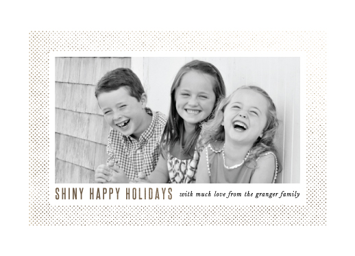 holiday photo cards - Shiny Happy Holidays by Up Up Creative