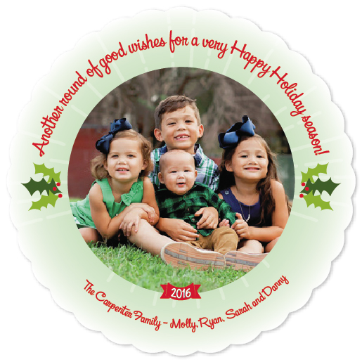 holiday photo cards - Round of Good Wishes by Rhonda Kinahan