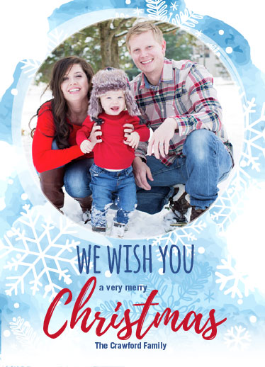 holiday photo cards - We Wish You by Judith Clifford