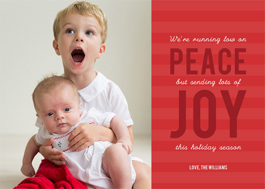 holiday photo cards - Lots of Joy by Chelsea Voorhees