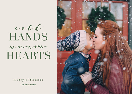 holiday photo cards - Cold Hands, Warm Hearts by Chelsea Voorhees