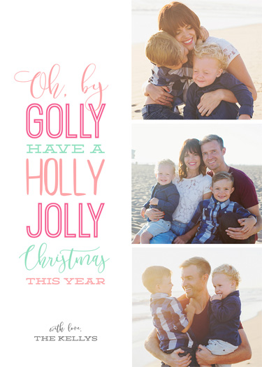 holiday photo cards - Holly Jolly Bright Christmas by Chelsea Voorhees