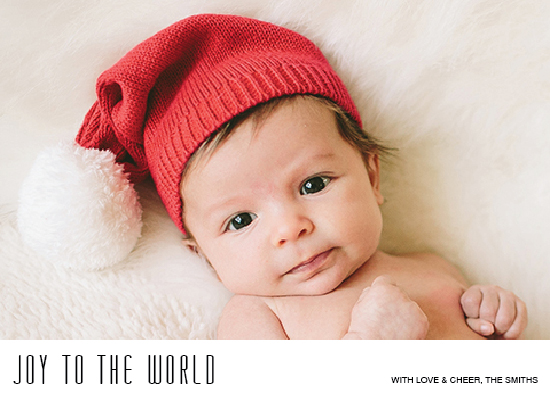holiday photo cards - Minimal Joy to the World by Terra Link