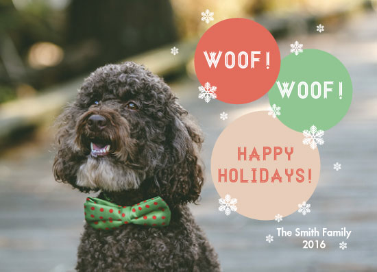 holiday photo cards - Woof! Woof! by Juliana Motzko