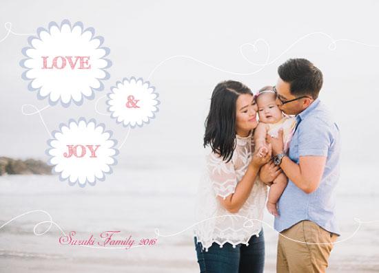 holiday photo cards - Wishes of Love & Joy by Juliana Motzko