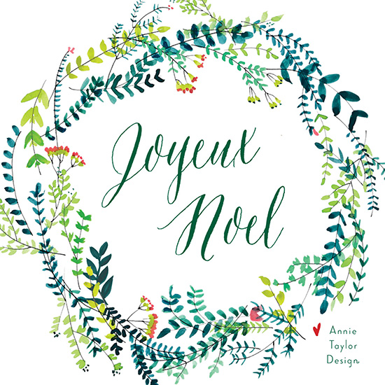 non-photo holiday cards - Parisian Christmas by Annie Taylor