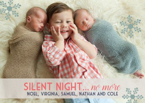 holiday photo cards - No More Silent Nights by Darcy Sang
