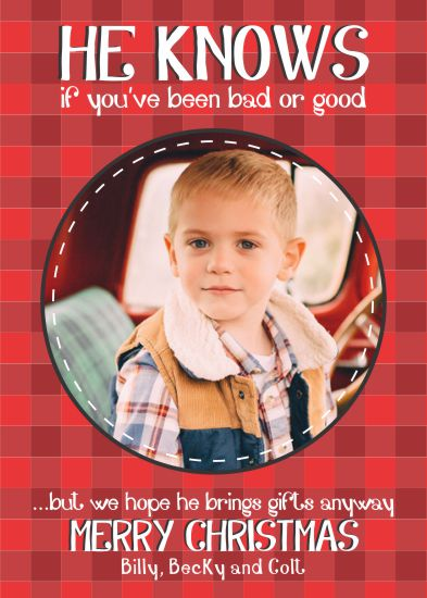 holiday photo cards - He Knows by Darcy Sang