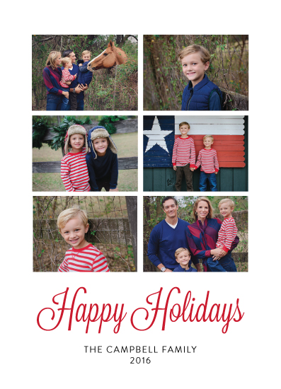 holiday photo cards - Six Holiday by Kailyn Glassmacher