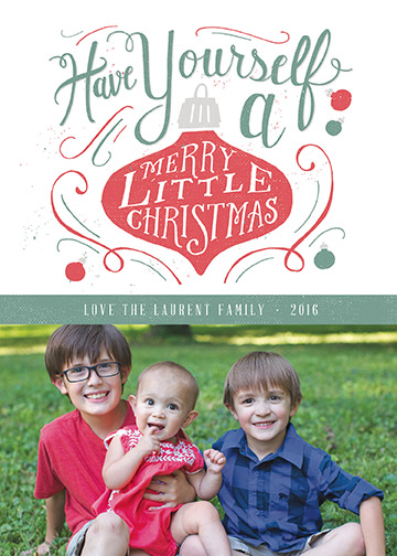 holiday photo cards - Have Yourself a Merry Christmas by Patrick Laurent