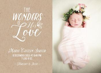 Krafted Birth Announcement