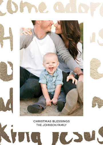 holiday photo cards - Come adore Him by Heidi Jantz