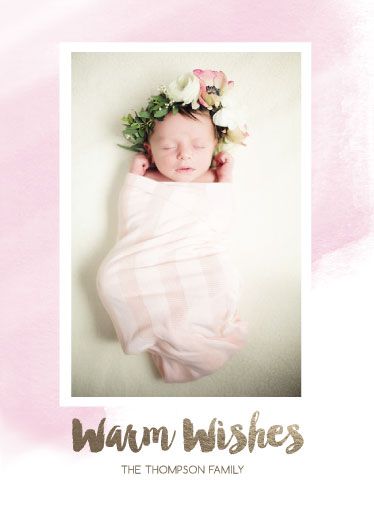 holiday photo cards - Warm Wishes & Baby Kisses by Danielle Romo
