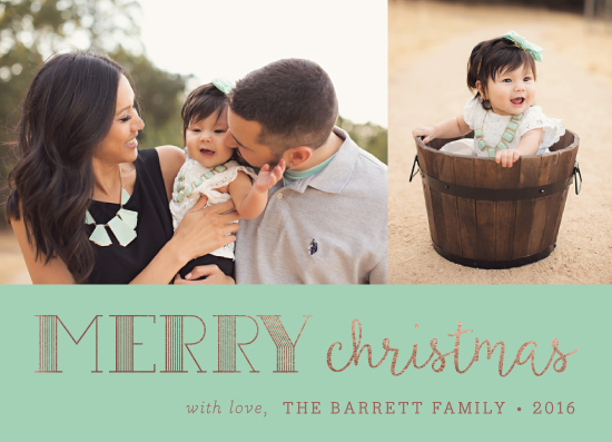holiday photo cards - modern and merry by sparky