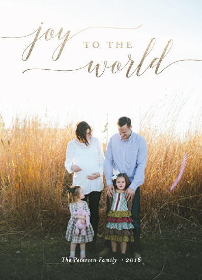 holiday photo cards - Sparkling Joy To The World by sparky