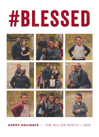 holiday photo cards - Hashtag Blessed by sparky