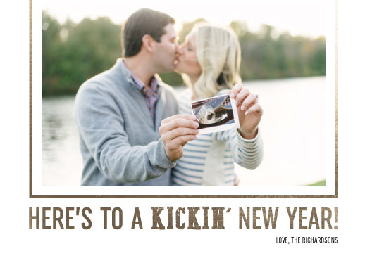 holiday photo cards - Kickin' New Year by Jessica Langley