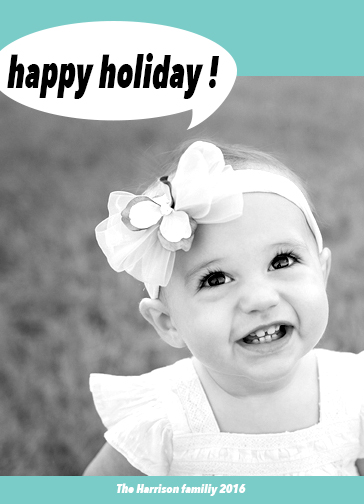 holiday photo cards - Holiday greeting by Abeer Mohamed