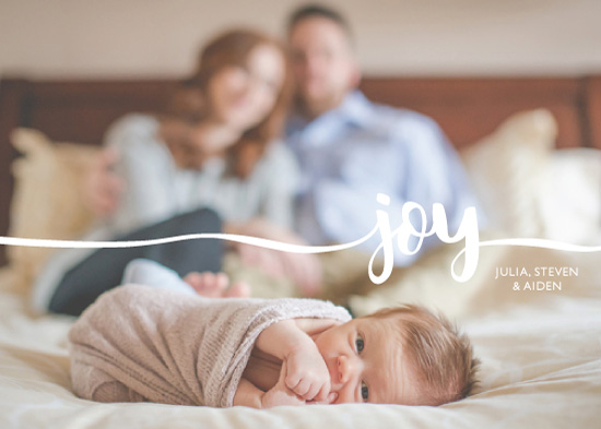 holiday photo cards - Ribbon of Joy by Denise Cupoli