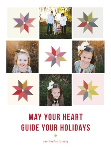 holiday photo cards - Let Your Heart Be Your Guide by Peridot Design