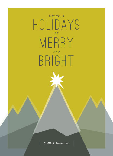 non-photo holiday cards - High Holiday Hopes by Peridot Design