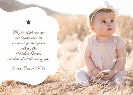 holiday photo cards - Lily Star by Darcy Sang