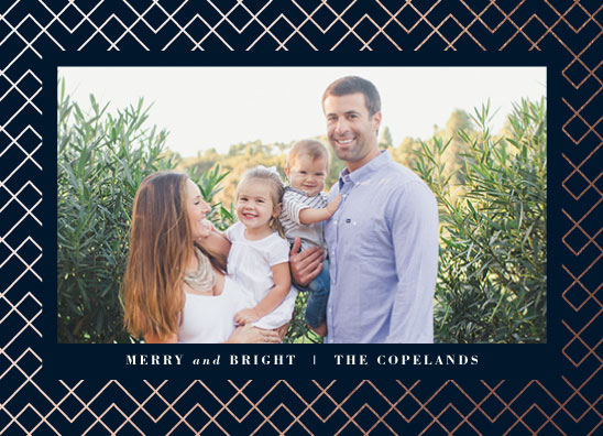 holiday photo cards - Festive Pattern by carly reed walker