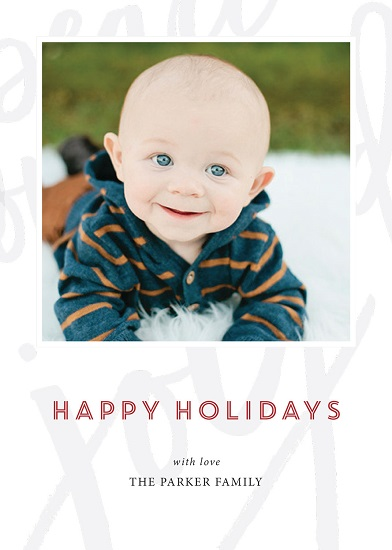 holiday photo cards - hidden wishes by Bella Carta Boutique