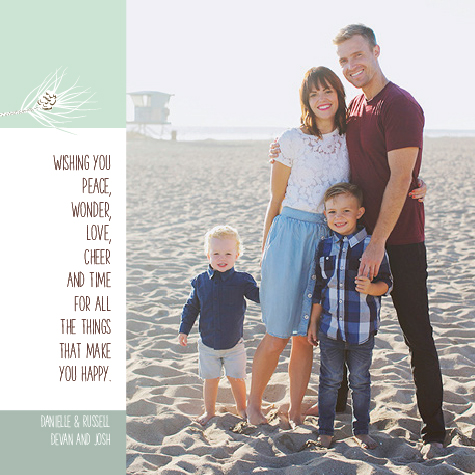holiday photo cards - Leave Time for Happy by Rhonda Kinahan