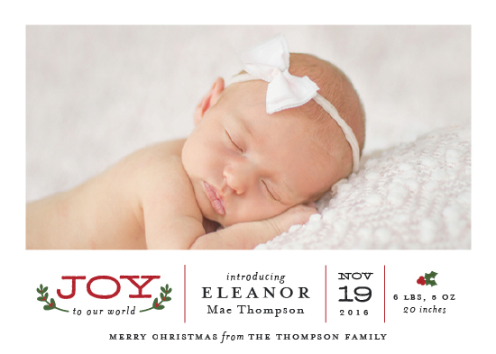 holiday photo cards - Joy To Our World by Sarah Guse Brown