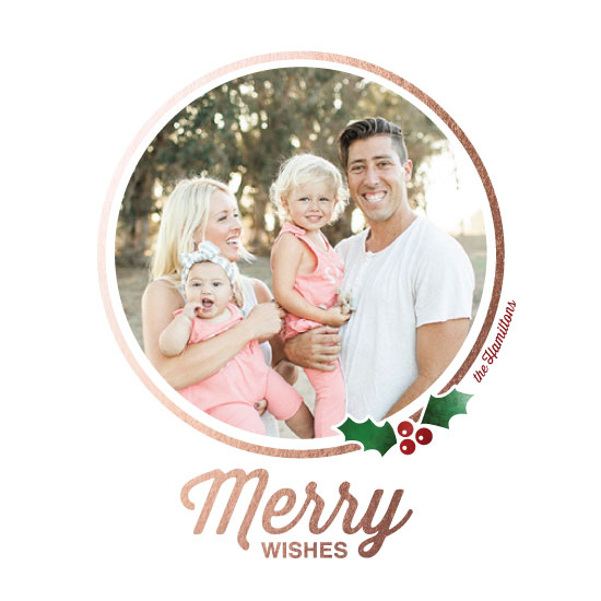 holiday photo cards - Merry Wreath by Lisa M